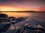 Обои Восход солнца на озере Tyrifjorden, Norway / Тирифьорден, Норвегия, фотограф Ole Henrik Skjelstad