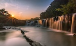 Обои Водопад Куротаки с восходом солнца. Префектура Хего, Япония. Фотограф Hasan Jakaria