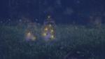 Обои Две стеклянные банки со светлячками стоят в траве