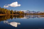 Обои Горное озеро Киделю осенью, Алтай, фотограф Роман Карамышев