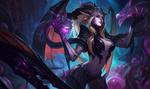 Обои Dragon Sorceress Zyra / Колдунья-Дракон Зира из игры League of Legends / Лига Легенд, by Bo Chen