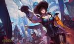 Обои Royal guard Fiora / Королевский гвардеец-Фиора из игры Лига Легенд / League of Legends, by Bo Chen