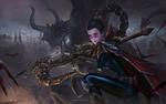Обои Vayne / Вейн из игры Лига Легенд / League of Legends, by Bo Chen