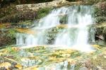 Обои Красочная панорама водопада осенью, by Katerina Duskova
