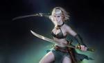Обои Девушка-воин с мечами из игры Tang Punk 2, by wenfei ye