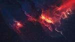 Обои Красная космическая туманность