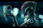 Обои Девушка - робот и робот - глаз