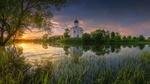 Обои Церковь Покрова на закате, Владимирская область, фотограф Виталий Левыкин