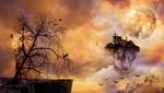 Обои Замок на острове в окружении облаков, автор Andrian Valentino