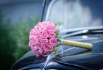 Обои Букет невесты на авто