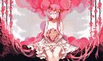 Обои Вокалоид Мегуринэ Лука / vocaloid Megurine Luka с букетом роз, by Shuno