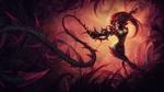 Обои Зайра / Zyra из игры Лига Легенд / League of Legends / LoL, атакует терновым кнутом