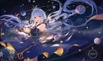 Обои Vocaloid Xingchen в короне в окружении планет (STARDUST), by Atdan