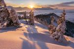 Обои Зимний закат солнца на Wieserhоrndl, Austria / WieserhГ¶rndl, Австрия. Фотограф Manuel Widl