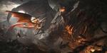 Обои Битва между девушкой-демоном и дьяволом, арт к игре League of Angels / Лига Ангелов, by G-host Lee