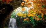 Обои Лесной водопад в Канчанабури, Таиланд