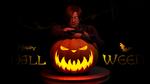 Обои Персонаж Леон Скотт Кеннеди стоит у светящегося светильника, Happy Halloween / Счастливого Хэллоуина, by Taitiii