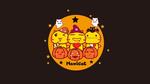 Обои Трое кавайных котиков в праздничных костюмах и три светильника Джека на фоне полной луны (Hamicat)