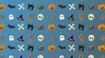 Обои Текстура с изображением атрибутов Хэллоуина
