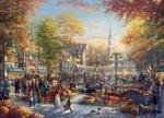 Обои Фестиваль тыквы в конце октября. Художник Thomas Kinkade