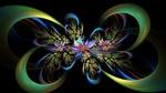 Обои Абстрактные фракталы на текстуре