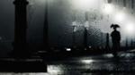Обои Текстура человека с зонтом под дождем (Тomorrow maybe too late / Завтра может быть поздно)