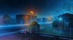 Обои Ночная улица города, by rkmlady