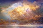 Обои Птицы летающие в небесном небе над морем, by muddymelly