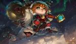 Обои Poppy / Поппи из игры League of Legends / Лига Легенд, by Rudy Siswanto