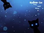 Обои Кот-сталкер следит за вашим рабочим столом / Stalker Cat stalks your desktop, by trenchmaker
