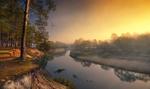 Обои Река Киржач осенним утром, Владимирская область, фотограф Нeger / Роман