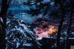 Обои Зимняя река ночью. Фотограф Yury Lugansky