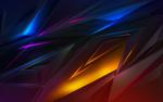 Обои Разноцветная абстракция геометрической формы