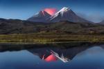 Обои Извержение вулкана Ключевская Сопка, Камчатка, фотограф Вадим Гвон