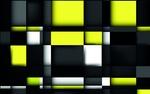 Обои Красивая графика из желтых, белых, серых и черных квадратов и прямоугольников