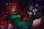 Обои Принцесса Мерида / Merida с медведем Морду из мультфильма Храбрая сердцем / Brave, by Prywinko