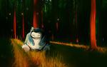 Обои Snorlax / Снорлакс из аниме Pokemon / Покемон, by andrework