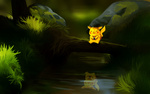 Обои Pikachu / Пикачу из аниме Pokemon / Покемон, by andrework