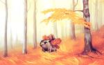 Обои Ivisaur / Ивисаур из аниме Pokemon / Покемон, by andrework
