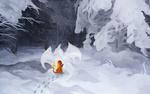Обои Charmander / Чармандер из аниме Pokemon / Покемон, by andrework