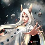 Обои Kaguya Ootsutsuki / Кагуя Ооцуцуки из аниме Naruto / Наруто, by Rothana Chhourm