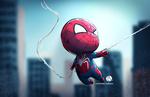 Обои Chibi Spidey / Чиби Спайди из комикса Spider Man / Человек-паук, by Rothana Chhourm