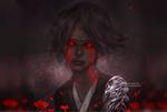 Обои Девушка с кровавыми глазами, by NanFe