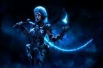Обои Косплей-модель Ketrin в образе всадника Апокалипсиса Fury / Ярость из игры Darksiders III / Апокалипсис III, by Aku