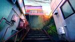 Обои Лестница к двери
