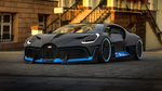 Обои Эксклюзивный гиперкар Bugatti Divo / Бугатти Диво на дороге у дома, by Rostislav Prokop