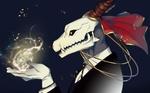 Обои Элиас Эйнсворт / Elias Ainsworth использует магию из аниме Невеста чародея / Mahoutsukai no Yome
