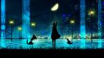 Обои Девушка пытается достать звезду, by harada miyuki