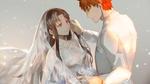 Обои Свадьба Рин Тосака / Tohsaka Rin и Шоро из аниме Судьба / Ночь схватки / Fate / stay night