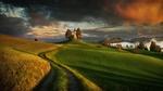 Обои Дорога к церкви осенью, Slovenia / Словения, фотограф Krzysztof Browko